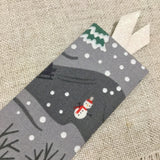 Luxury Winter Landscape Bookmarks / Fabric Covered Bookmarks - Little Bun Designs UK