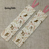 Spring Meadow Bookmarks / Handmade Fabric Bookmarks - Little Bun Designs UK