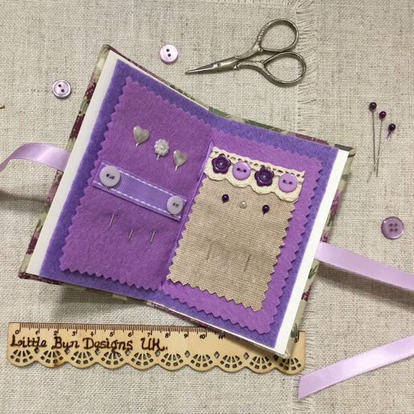 Needle Book / Handmade Needle Case - Little Bun Designs UK