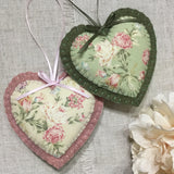 Rose Aromatherapy Scented Felt Heart - Little Bun Designs UK