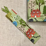 A6 Country Village Notebook  / Address Book / Bookmark - Little Bun Designs UK
