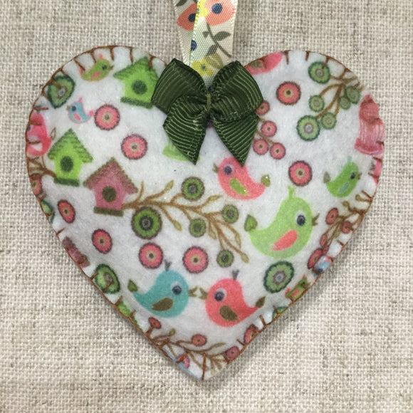 Lavender Hearts / Handmade Felt Hearts - Little Bun Designs UK