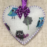 Handmade Lavender Sachet / Felt Heart - Little Bun Designs UK