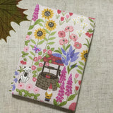 A6 flower fabric notebook / address book / bookmark - Little Bun Designs UK