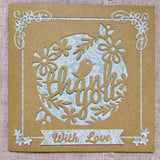 Thank You Card / Handmade Card - Little Bun Designs UK