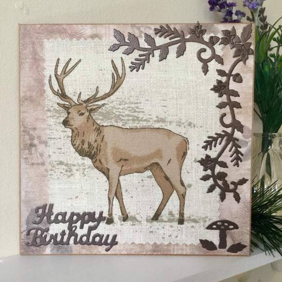 Handmade Woodland Birthday Card - Little Bun Designs UK