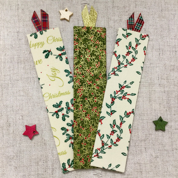 Handmade Festive Bookmarks - Little Bun Designs UK