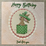 Handmade Bunny Birthday Card - Little Bun Designs UK