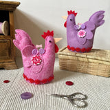 Chicken Pin Cushion / Handmade Pincushion / Felt Chicken / Chicken Gifts - Little Bun Designs UK