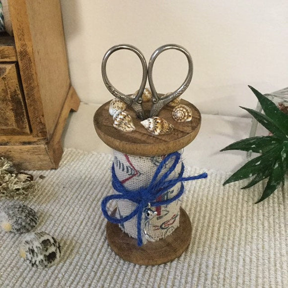 Nautical Design Scissor Holder - Little Bun Designs UK