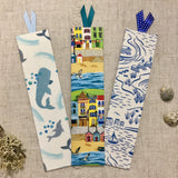 Seashore Bookmarks / Handmade Fabric Bookmarks - Little Bun Designs UK