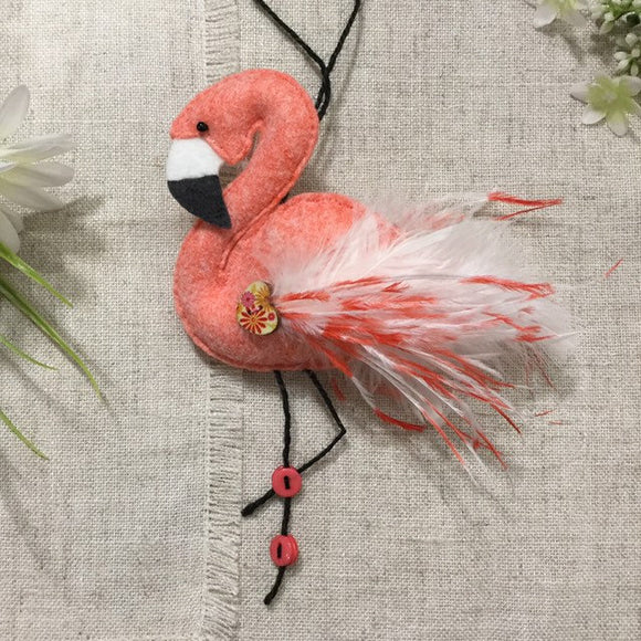 Felt Flamingo Decoration - Little Bun Designs UK