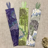 Forest Bookmarks / Handmade Fabric Bookmarks - Little Bun Designs UK