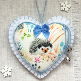 Scented Christmas Decoration / Christmas Hedgehog Decoration - Little Bun Designs UK