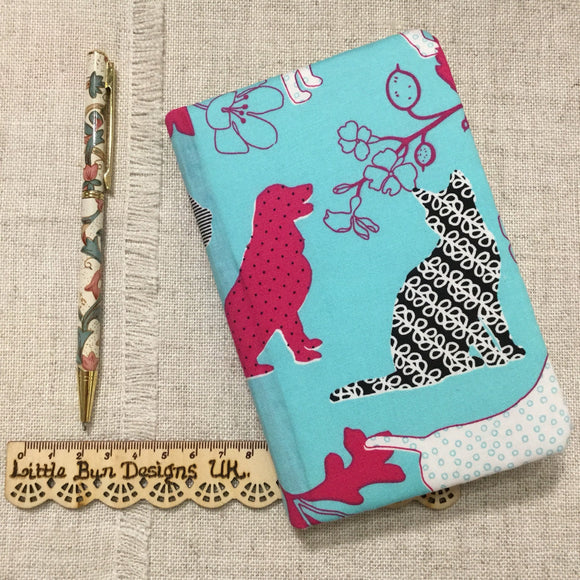 A6 Cat Dog Notebook / Address Book / Bookmark - Little Bun Designs UK
