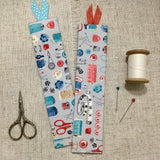 Haberdashery Bookmarks / Handmade Fabric Bookmarks - Little Bun Designs UK