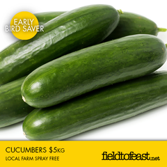 spray free cucumbers $5kg