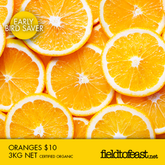 organic oranges $10 for 3kg