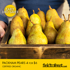 Organic pears 4 for $6