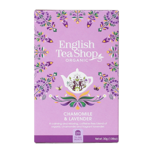 English Tea Shop : Organic Chamomile & Lavender Teabags : 20 piece