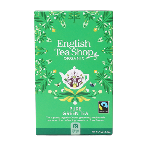 English Tea Shop : Organic Green Tea Teabags : 20 piece