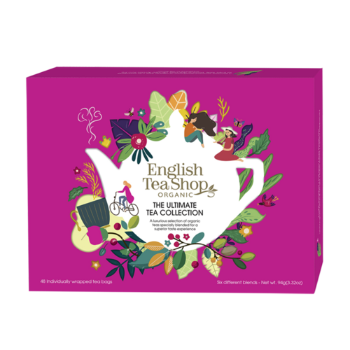 English Tea Shop : Organic Ultimate Tea Collection Pink Tin : 48 bags