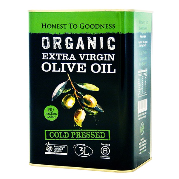 Olive Oil : Organic Cold Pressed : 3 Litres