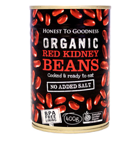 Red Kidney Beans : Organic : 400g Can