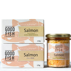 Salmon in EVOO : Good Fish : 195g Jar