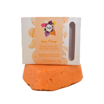 Kalla Beauty Juicy Orange Shampoo Bar for dry dandruff hair
