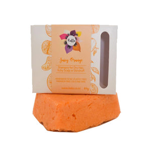 Load image into Gallery viewer, Kalla Beauty Juicy Orange Shampoo Bar for dry dandruff hair