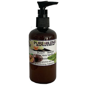 Pure Blend aloe vera vanilla and passionfruit body wash