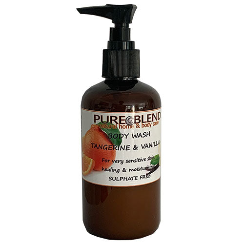 Pure Blend tangerine and vanilla body wash