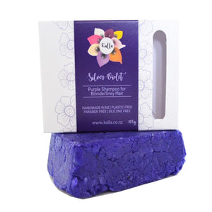 Load image into Gallery viewer, Kalla Beauty Shampoo Bar Silver Violet for grey and blonde hair