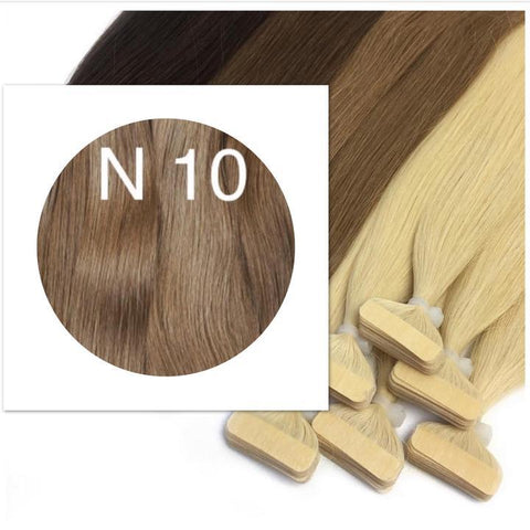 LIGHT BROWN TAPE-IN HAIR EXTENSIONS