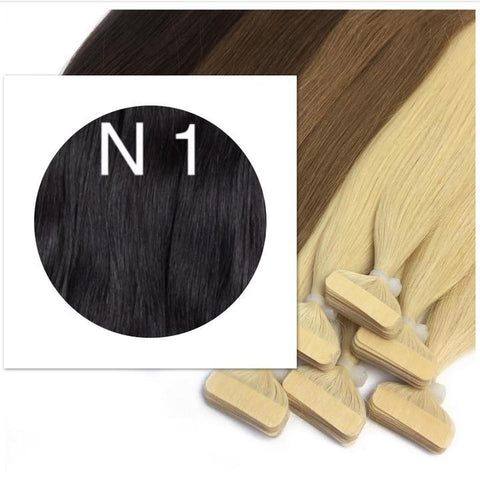BLACK & BROWN TAPE-IN HAIR EXTENSIONS