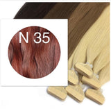 RED BROWN TAPE-IN HAIR EXTENSIONS