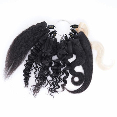 PREMIUM HAIR EXTENSION BUNDLE SAMPLE KIT
