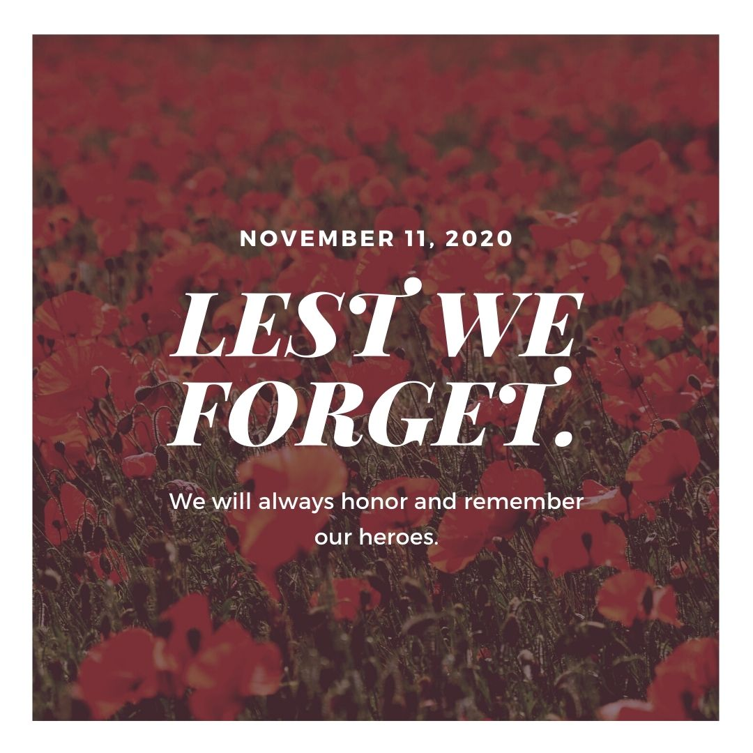 Remembrance Day - Nov. 11, 2020