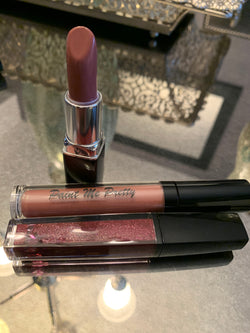 Cocoa combo color lip set - Sweet memory nude lipstick , sweet pink nude gloss ,diva lip creme