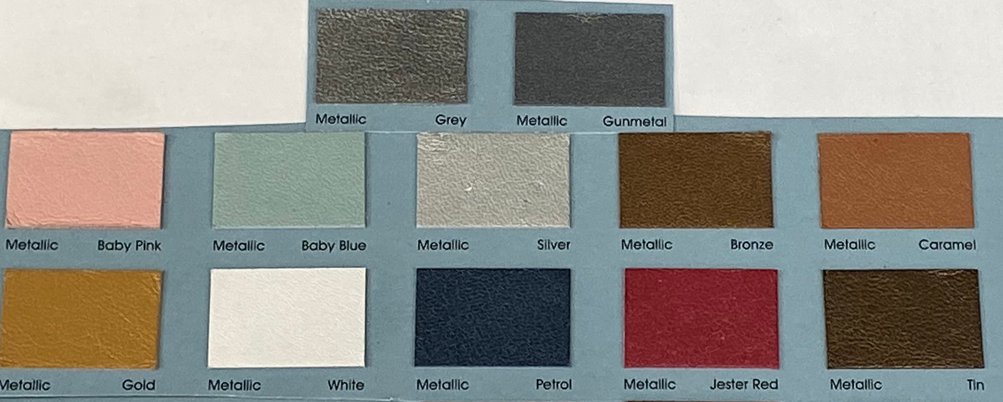 Metallic Gunmetal Grey Leather Skin : Italian Lamb Nappa (0.6-0.7 mm). Perfect for Clothing, Leather Jackets, Leather Crafts, Leather Handbags.