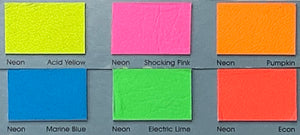 Neon Econ Fluorescent Leather Skin : Italian Lamb Nappa (0.7-0.8mm). Perfect for Clothing, Leather Jackets, Leather Crafts, Leather Handbags
