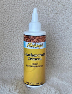 Fiebing's Leathercraft Cement : Flexible Non-Flammable Adhesive (118ml or 4oz)