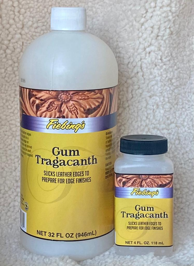 Fiebing's Gum Tragacanth : Slicks Leather Edges To Prepare For Edge Finishers (946ml/32oz or 118ml/4oz)