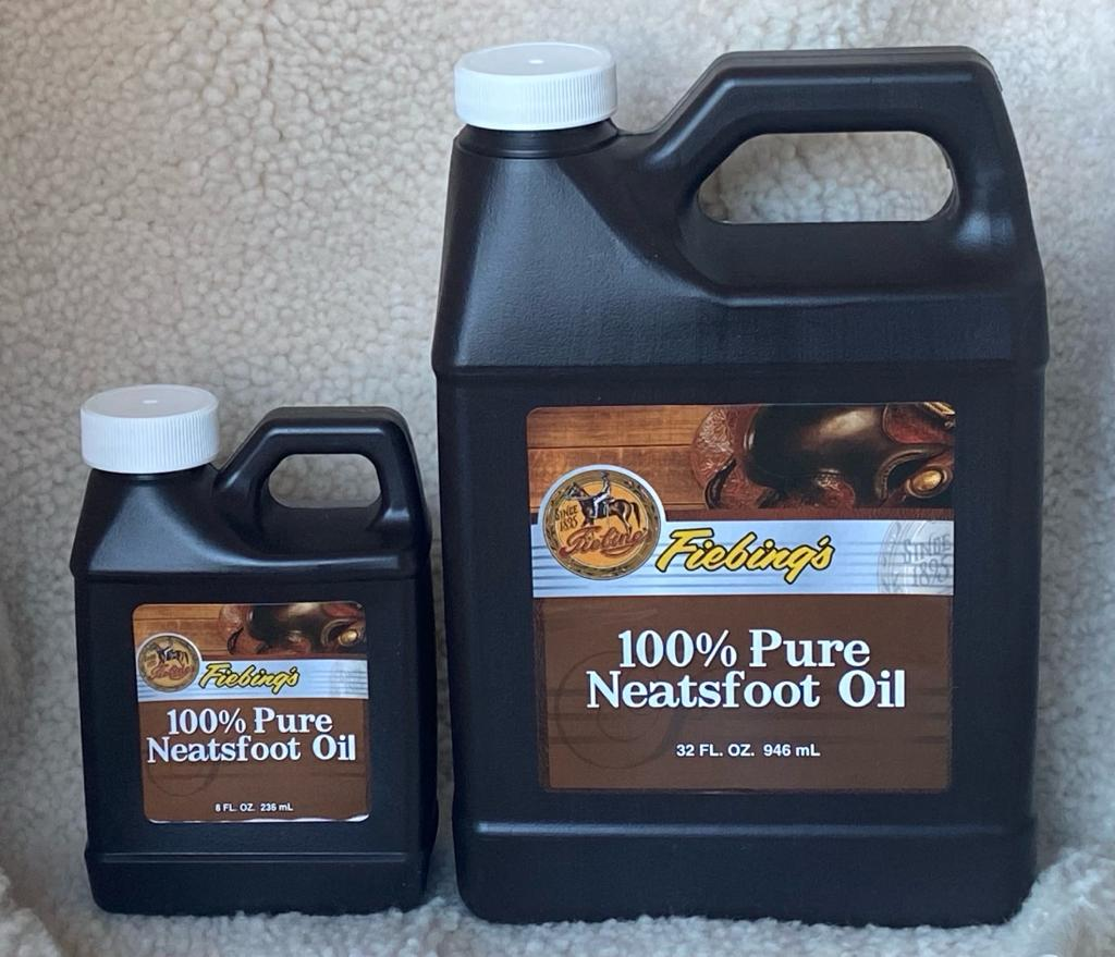 Fiebing's 100% Pure Neatsfoot Oil : Natural Leather Preservative (946ml/32oz or 236ml/8oz)
