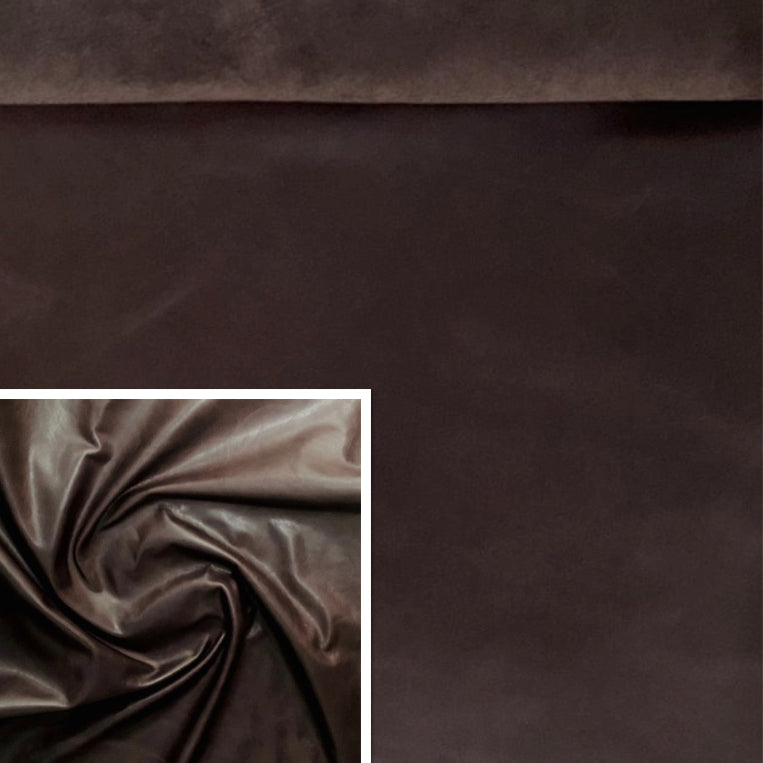 Oily Brown Buffed Leather Cow Hide (0.9-1.1mm) This Hide Is Perfect for Leather Crafts , Leather Bags , Leather Accessories.