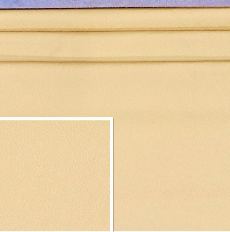 Newmarket Giallio Cream Italian Leather Cow Hide : (0.9-1.1mm) This Hide Is Perfect for Leather Upholstery , Leather Crafts, Leather Bags , Leather Accessories.