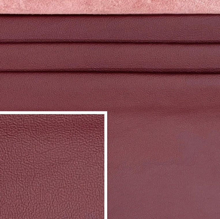 Newmarket Wine Dark Red Italian Leather Cow Hide : (0.9-1.1mm) This Hide Is Perfect For Leather Upholstery , Leather Crafts , Leather Bags , Leather Accessories.