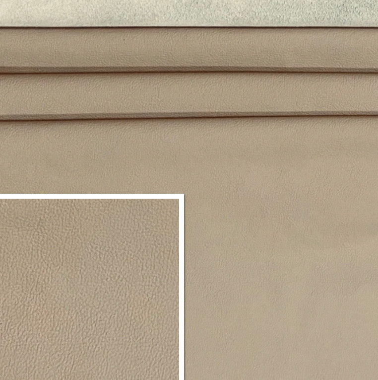 Newmarket Sesamo Cream Italian Leather Cow Hide : (0.9-1.1mm) This Hide Is Perfect for Leather Upholstery , Leather Crafts, Leather Bags , Leather Accessories.