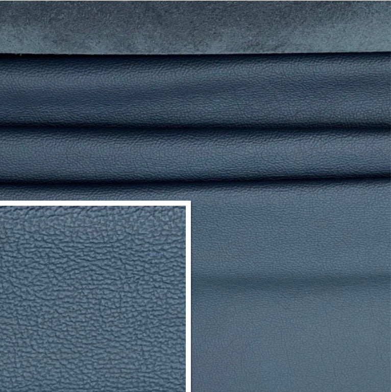 Newmarket Bluette Dark Navy Italian Leather Cow Hide : (0.9-1.1mm) This Hide Is Perfect For Leather Upholstery , Leather Crafts , Leather Bags  , Leather Accessories.